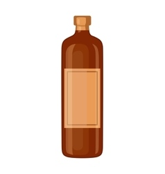 Whiskey bottle vector image