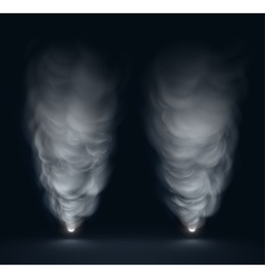 White Smoke vector image vector image