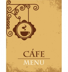 cafe menu vector image vector image