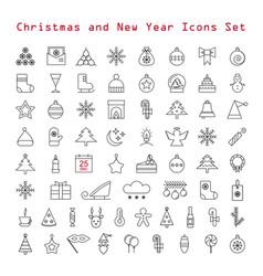 christmas icon set vector image vector image