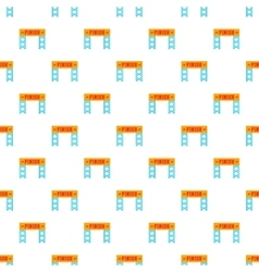 Finish race gate pattern cartoon style vector