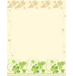 Frame with grape vector image vector image