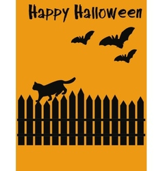 Halloween postcard vector image vector image