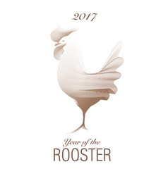 2017 year of the rooster-02 vector image