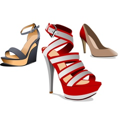al 0737 shoes vector image