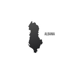 albania country border map isolated on white vector image