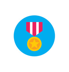 Award medal - concept colored icon in flat graphic vector