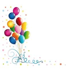Balloons confetti party vector image