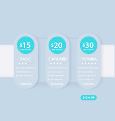 Banner for tariffs prices plans template vector