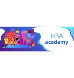 Basketball camp concept banner header vector