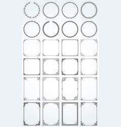 big set of decorative rectangle square round vector image