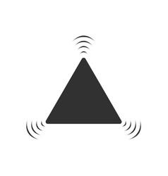 Black flashing alarm hazard warning attention vector