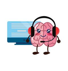 Brain cartoon creativity vector