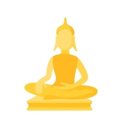 Buddha statue icon cartoon style vector image