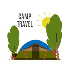 campsite place in forest vector image