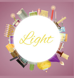 Candle frame wax candles for vector