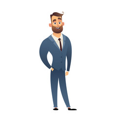 character office worker man in business suit vector image