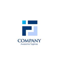 Creative letter f square logo template vector