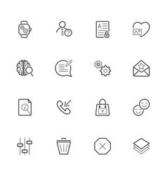 Different icons pack for webdesign or mobile vector