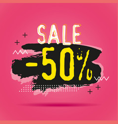 discount sale 50 banners template vector image