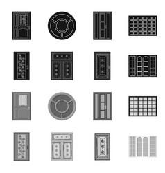 door and front logo vector image