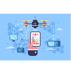 drone delivery online service vector image