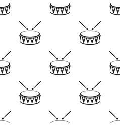 Drum black icon for web and mobile vector