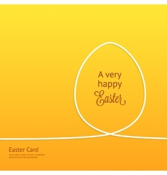 Easter card with silhouette line egg vector
