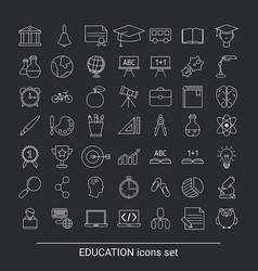 education icon set education icon set vector image