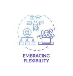 Embracing flexibility concept icon vector