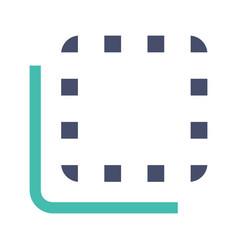 Flip to back button glyph color icon vector