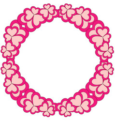 flower colorful frame wreath for valentine day vector image