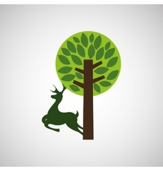 Forest reserve design vector image