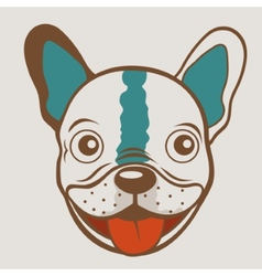 French bulldog funny face vector image