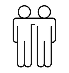 Friendship affection icon outline style vector