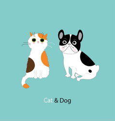 funny dog and cat vector image