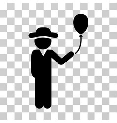 Gentleman with balloon icon vector