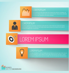 Goal achievement business infographics vector