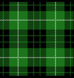 green tartan plaid seamless pattern vector image