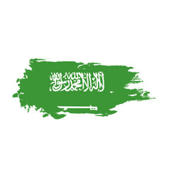 grunge brush stroke with saudi arabia national vector image