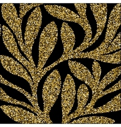 Grunge retro gold glitter pattern of colored vector