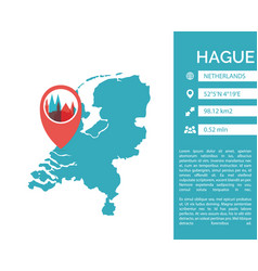 Hague map infographic vector