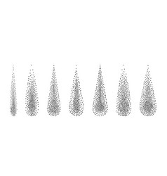 halftone drops water dots vector image