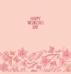 happy womens day postcard vector image