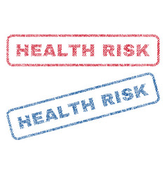health risk textile stamps vector image