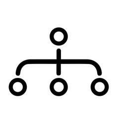 Hierarchy site map icon black color vector