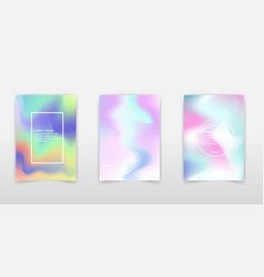 holographic rainbow foil abstract background vector image