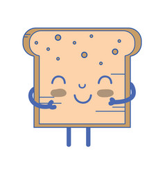 Kawaii cute tender bread nutrition vector