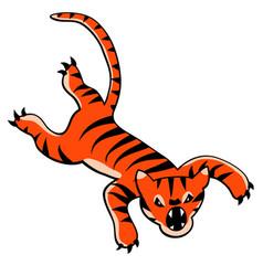Leaping tiger cartoon vector
