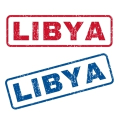 Libya Rubber Stamps vector